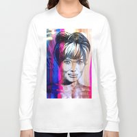 angelina jolie Long Sleeve T-shirts featuring Angelina Jolie by Pablo Moitzheim
