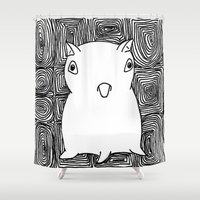 dumbo Shower Curtains featuring Dumbo Octopus by Indigo K