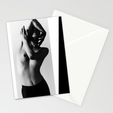 Nude dancer black and white nude photography 2010 Stationery Cards