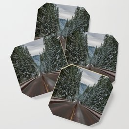 Winter Road Trip - Pacific Northwest Nature Photography Coaster