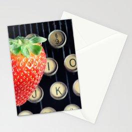 Strawberry typewriter keys Stationery Cards