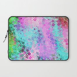 flower pattern abstract background in pink purple blue green Laptop Sleeve