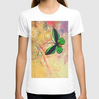 batik T-shirts featuring BATIK GREEN by AlyZen Moonshadow