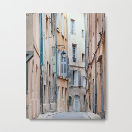 Aix-En-Provence Street - France Travel Photography Metal Print
