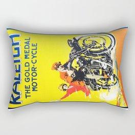 Raleigh Motorcycle, vintage poster Rectangular Pillow