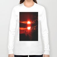 sunrise Long Sleeve T-shirts featuring Sunrise by American Artist Bobby B