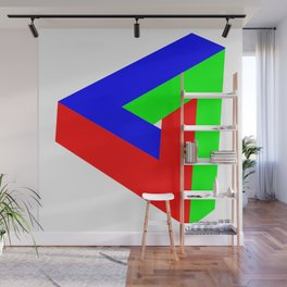 the impossible triangle Wall Mural