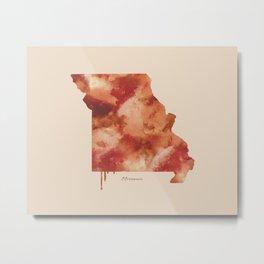 Missouri Watercolor State Metal Print
