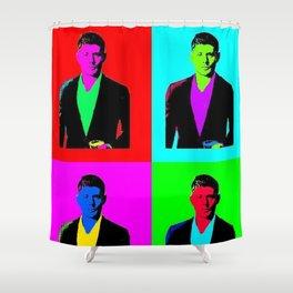 Jensen Ackles Pop Art Shower Curtain