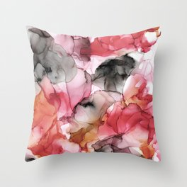 Abstract Colorful Autumn Painting Throw Pillow