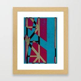 linear connection Framed Art Print
