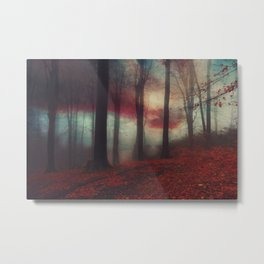 Fall Fantasy II - Moody Autumn Forest Metal Print