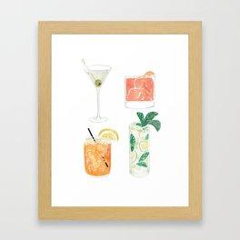 Colorful cocktails Gerahmter Kunstdruck