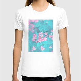 Forget Me Knot - Pink Heart little flowers T-shirt