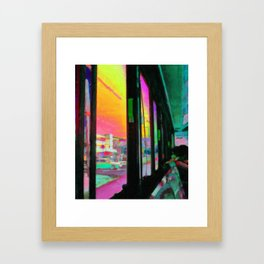 Acid bus trip Framed Art Print