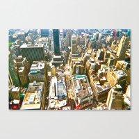 manhattan Canvas Prints featuring Manhattan by McLane O'Daniell