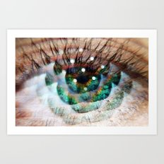 Green Eyed Beauty Art Print