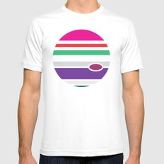 Planet - to wear White Mens Fitted Tee MEDIUM