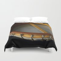 banjo Duvet Covers featuring SAVOY TENOR BANJO 1928   by JOtwell Perspectives