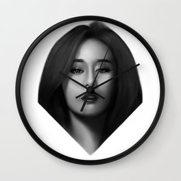Jiyeon portrait. Wall Clock