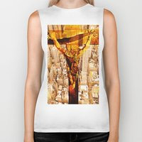 jesus Biker Tanks featuring Jesus by Joe Ganech