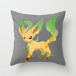 Leafeon Eeveelution Throw Pillow