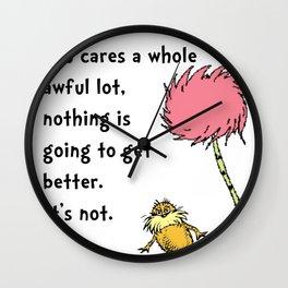 Dr Seuss Lorax Wall Clock
