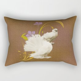 Love Doves & Wildflowers Rectangular Pillow