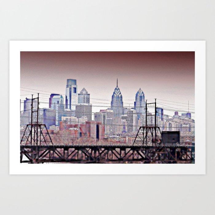 Philly Grit Art Print