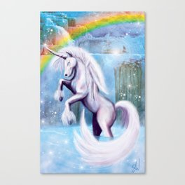 Unicorn and Sparkles - Day Canvas Print