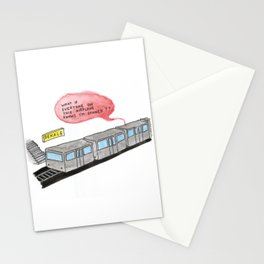 rough commute Stationery Cards