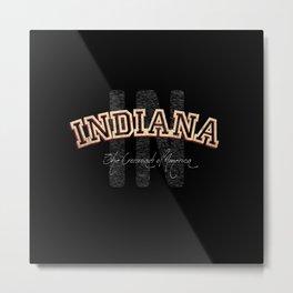Indiana Vintage Retro Collegiate Metal Print