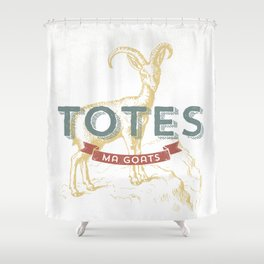 Totes Ma Goats Shower Curtain
