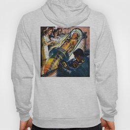 Vintage Sci-Fi (Science Fiction) Illustration Hoody