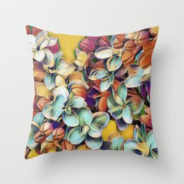 Painted Lilacs Throw Pillow