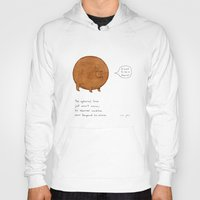 stickers Hoodies featuring the spherical bear by Marc Johns