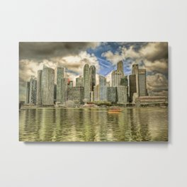 Singapore Marina Bay Sands Art Metal Print