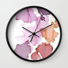 Inky abstract mark making painting print Wall Clock