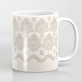 "Damask ""Cafe au Lait"" Chenille with Lacy Edge Coffee Mug"