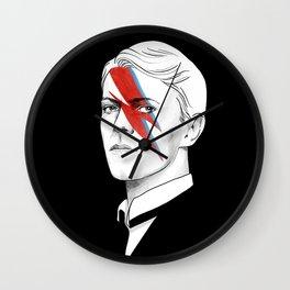 The thin white duke - David Bowie illustration portrait Wall Clock