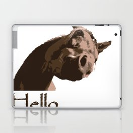 funny horse hello Laptop & iPad Skin