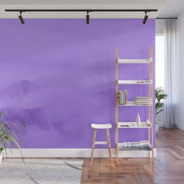 Lilac Fog Surrounding Anchorage Mountains Wall Mural