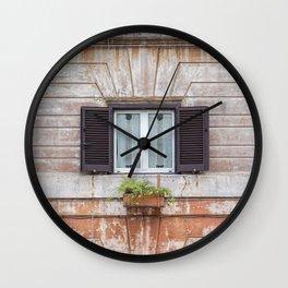 Window in Rome, Italy  Wall Clock