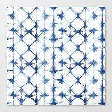 Shibori Diamonds Canvas Print