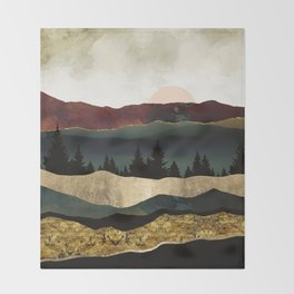 Early Autumn Throw Blanket
