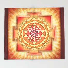 Sri Yantra XVI.I Throw Blanket
