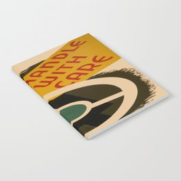 Vintage poster - Handle with Care Notebook