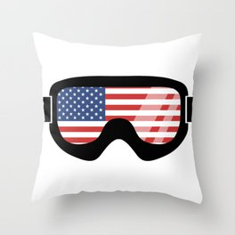 USA Goggles | Goggle Designs | DopeyArt Throw Pillow