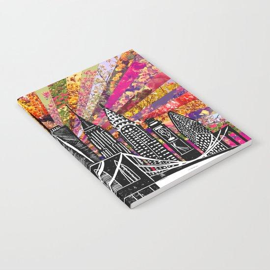 Linocut New York Blooming Notebook
