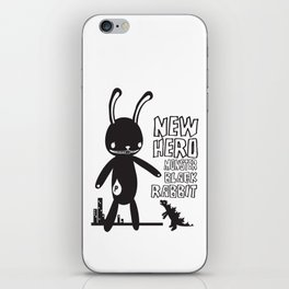 NEW HERO BLACK RABBIT MONSTER iPhone Skin